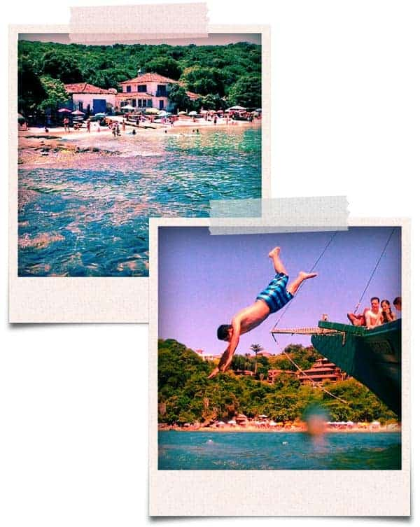 Passeio em tour no rio de janeiro passeio armacao de buzios praia azeda e mergulho do barco